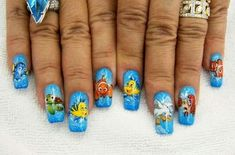 9 Best Disney Nail Art Designs: Disney Little Mermaid Nails and Finding Nemo Nails