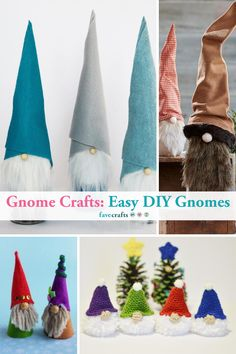 Gnome Crafts: 46 Easy DIY Gnomes  #gnomes #gnomecrafts #diygnomes #gnome Easy Christmas Crafts, Christmas Gnome, Simple Christmas, Gnome Ornaments, Popular Crafts, Recycled Crafts, Homemade Gifts, Gnomes, Garland
