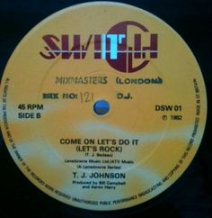 Funk-Disco-Soul-Groove-Rap: TJ Johnson - Come On Let's Do It
