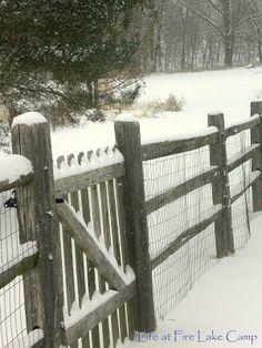 Looks just like my split rail fence in the winter