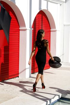 black - nothing sexier than a pencil skirt and a pair of Louboutin's (of course)