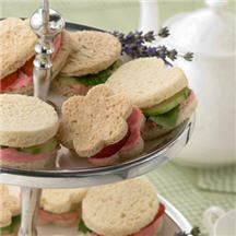 Strawberry Tea Sandwiches - Celebrate the fresh flavors of spring with these sweet-shaped, mini sandwiches. Perfect for brunch, lunch or a garden tea party, these tiny bites are big on flavor.