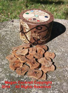 Rune Tiles and Norse Storage Box Set  Elder by vicillascauldron, $50.00