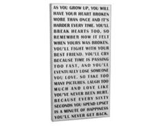 As You Grow Up - Wood Box Sign