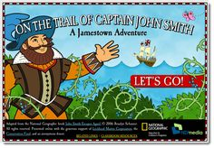 """National Geographic Kid's On the Trail of Captain John Smith: A Jamestown Adventure """"Game"""" 3rd Grade Social Studies, Social Studies Activities, Teaching Social Studies, Learning Resources, History Teachers, Teaching History, History Classroom, Classroom Fun, Virginia Studies"""