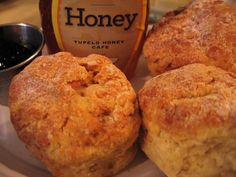 Homemade biscuits and homemade jam from Tupelo Honey Cafe in Asheville, North Carolina.  Delicious.