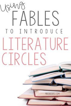 Using fables to introduce literature circles fairy tales etc Middle School Reading, Third Grade Reading, Literature Circles, Children's Literature, Literacy Circles, Reading Response Journals, Reading Comprehension, Comprehension Strategies, Writing Strategies