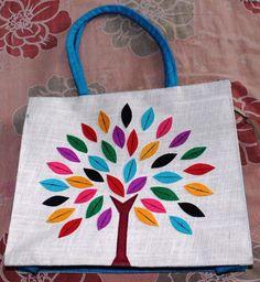 Visvabhavanah Pure Jute Bag With Indian Handmade Art.... #VisvabhavanahMart