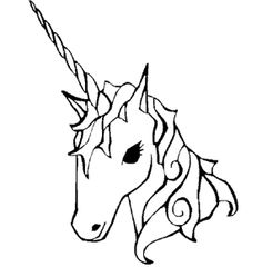 Face Unicorn Coloring Page