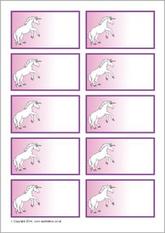 A set of editable peg labels per page) featuring unicorns in two different designs. Ideal for use in your cloakroom area or for pupil drawers. Name Tag For School, School Name Labels, School Signs, Printable Name Tags, Printable Planner Stickers, Printable Labels, Unicorn Names, Unicorn Books, Classroom Labels