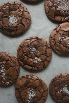 Salted Coffee Brownie Cookies – butter and brioche