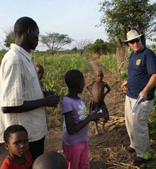 Vocational training teams aid Adopt-a-Village project in Uganda.