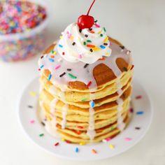 Birthday Pancakes @FoodBlogs