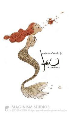 Cute cartoonish Mermaid