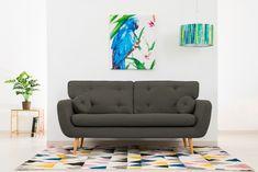 Canapea Fixa 3 locuri Malva Dark Grey #homedecor #interiordesign #inspiration #house #brown #design #decor #livingroom #livingroomdecor Aqua, Love Seat, Living Room Decor, House Design, Couch, Pastel, Interior Design, Retro, Inspiration