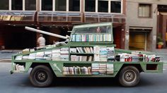Weapons of Mass Instruction: A 1979 Ford Falcon Converted in a Tank Armored with 900 Free Books on Vimeo