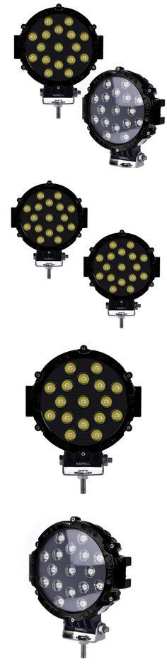 Car Lighting: 2Pcs 51W 7 Black Spot Round Led Work Light Off Road Fog Driving Roof Bar Bumper -> BUY IT NOW ONLY: $59.99 on eBay!