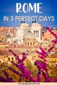 Dreaming of a vacation in Rome Italy? Here's the ultimate for spending 3 fantastic days in Rome. There are so many amazing things to do and see in Rome. This Rome itinerary gives you an efficient 3 day itinerary for exploring Rome. It tells you everything you need to do, see, and eat in Rome. This Rome itnerary takes you to all of Rome's must see sites, must visit museums, historic landmarks, and some hidden gems. If you want to know the best things to do in Rome, read on! Rome Destinations 3 Days In Rome, Day Trips From Rome, Rome Travel, Italy Travel, Weekend City Breaks, Rome Itinerary, Italian Lakes, Regions Of Italy, Countries To Visit