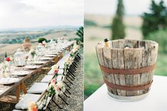 wedding receptions - photo by peaches and mint http://ruffledblog.com/sophisticated-wedding-with-views-of-tuscany