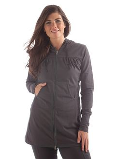 Yala Organic Cotton Aspire Hooded Jacket - I have this in black and slate, absolutely love it!