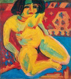Ernst Ludwig Kirchner, Female Nude (Dodo). 1909