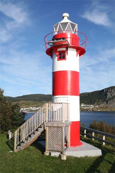 Rocky Point (Harbour Breton) Lighthouse - Located in Newfoundland, Canada Newfoundland Canada, Newfoundland And Labrador, Places Around The World, Around The Worlds, Lighthouse Pictures, Rocky Point, Atlantic Canada, Beacon Of Light, Light Of The World