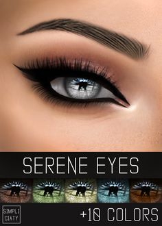 """simpliciaty: """"SERENE EYES""""15 Colors; HQ mod compatible; Face paint category; Pics taken with the HQ mod. """" DOWNLOAD: [ SIMFILESHARE ] Here's a little something for you, I promise that next week I'll post something that you've been asking for months..."""