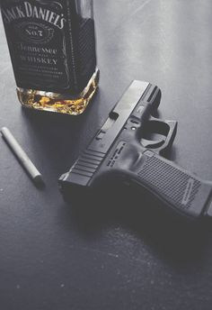 """Glock with Jack Daniels. Knife Aesthetic, Aesthetic Girl, Jack Daniels, Sebastian Moran, Sebastian Castellanos, Best Concealed Carry, Creation Deco, Bad Boys, Hand Guns"