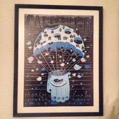 A great poster from the Bubble Process for Calexico's istanbul concert back in 2013. Definitely my favorite piece of art on my walls!
