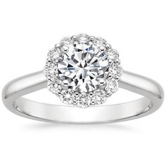 This is the PERFECT ring. Finally found the one. 18K White Gold Lotus Flower Diamond Ring from Brilliant Earth