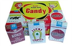 Candy cigarettes, just what every kid needs to encourage him or her to try one of Dad's Pall Malls when he's 9-years-old.