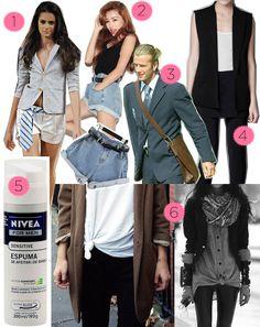 """Todo mundo já sabe que tem algumas peças do guarda-roupa masculino que a mulherada pode tirar vantagem. O jeans boyfriend, a camisa branca… Não é novidade. Mas tem certas coisinhas extras que a gente pode """"roubar"""" do namorado e que eu aposto que ainda não tinham passado pela sua cabeça. Vem ver: 1. A GRAVATA: …"""