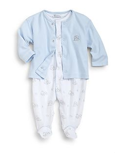 Kissy Kissy Infant's Two-Piece Bedtime Bears Take Me Home Footie & Jacket Set