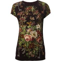 Dolce & Gabbana floral key print T-shirt