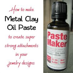 How to make homemade PMC silver clay oil paste using a plant based essential oil or Sherri Haab Pastemaker and how to use it for strong joins in silver metal clay. Includes full lavender paste recipe.