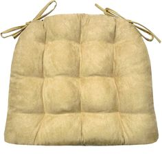 Microsuede Camel Dining Chair Pad - Latex Foam Fill - Solid Color Microfiber Ultra-Suede - Made in USA*
