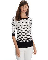 Polka Dot Print Pullover WHBM