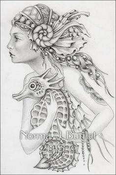 Fairy Tangles - Norma Burnell is a CZT - Certified Zentangle Teacher - who draws beautiful fairies, hummingbirds, and every sort of flying critter. gosh! i wish i could draw like this!