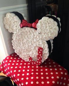 Minnie Mouse. | 31 Diaper Cake Ideas That Are Borderline Genius