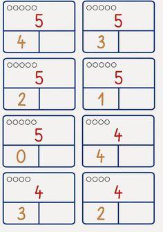 Zahlzerlegung nur bis 6 – Rebel Without Applause Math Worksheets, Math Activities, Kindergarten Math, Preschool, Montessori Math, Math For Kids, Ms Gs, Numeracy, Mathematics