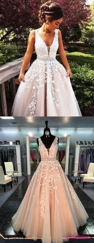 Champagne Prom Dresses,Ball Gown Prom Gowns,Lace Prom Dresses,Tulle Prom Dresses,Tulle Prom Gown,Prom Dress,Evening Gown For Teens PD20186834