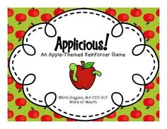 Applicious! An apple-themed Freebie! -repinned by @PediaStaff – Please Visit ht.ly/63sNt for all our pediatric therapy pins