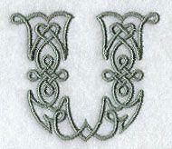 Celtic Knotwork Letter U - 2 Inch