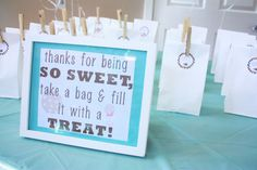 favors/treat bags    Milk & Cookies baby shower  http://macdonaldsplayland.blogspot.com/2013/02/milk-cookies-baby-shower.html