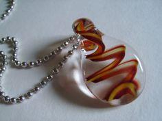 Handmade glass necklace pendant - Eighth Planet