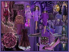 Fashion-era.com fashion trends Autumn/Winter 2008/9 - Purple Aubergines Lilacs Mood Board