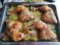 pollo asado con patatas al vino blanco Best Instant Pot Recipe, Paella, Lasagna, Healthy Living, Food And Drink, Chicken, Meat, Cooking, Pasta Filo