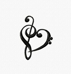 Embroidery pattern Music Love