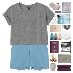 """addie ◦ adribenavides"" by randomn3ss ❤ liked on Polyvore featuring CB2, MiH Jeans, Monki, Passport, Senna Cosmetics, Tina Frey Designs, Tri-coastal Design, H&M, Toast and Topshop"
