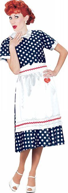 I Love Lucy Polka Dot Dress Adult Costume  Product #: WC140111
